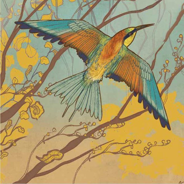European Bee-eater Bird Greetings Card - Shelly Perkins