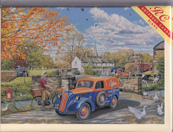 Farm Services Van Greetings Card - Trevor Mitchell