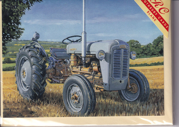 Ferguson Gold Belly Vintage Tractor Greetings Card - Trevor Mitchell