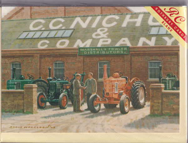 Field Marshall Tractor Agent Greetings Card - Robin Wheeldon