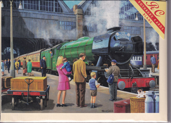 Flying Scotsman Train At Kings Cross Greetings Card - Kevin Walsh