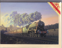 The Flying Scotsman Steam Train Greetings Card - Malcolm Root