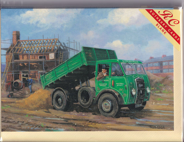 Foden Tipper Truck At Work Greetings Card - Kevin Walsh