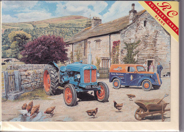 Fordson Major Tractor First Service Greetings Card - Trevor Mitchell