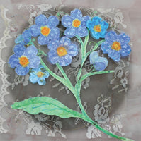 Forget-Me-Nots Flowers Greetings Card - Abigail Mill