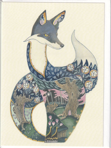 Fox Nocturnal Greetings Card - Daniel Mackie