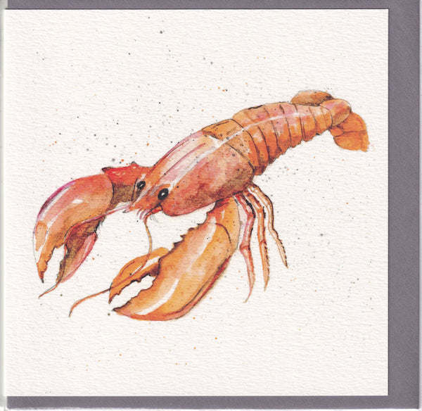 Lobster Pencil Collection Greetings Card - Sarah Boddy