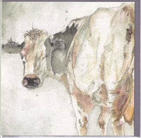 Cow Greetings Card - Sarah Boddy