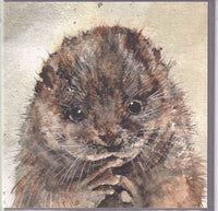 Otter Greetings Card - Sarah Boddy