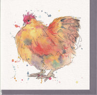 Buff Orpington Chicken Greetings Card - Sarah Boddy