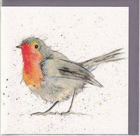 Robin Bird Pencil Collection Greetings Card - Sarah Boddy