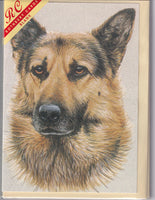 German Shepherd Alsation Dog Greetings Card - Kevin Wood