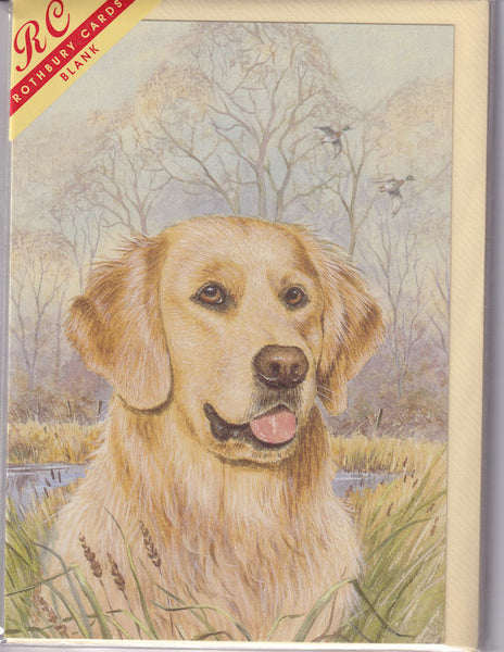 Golden Retriever Dog Greetings Card - Kevin Wood