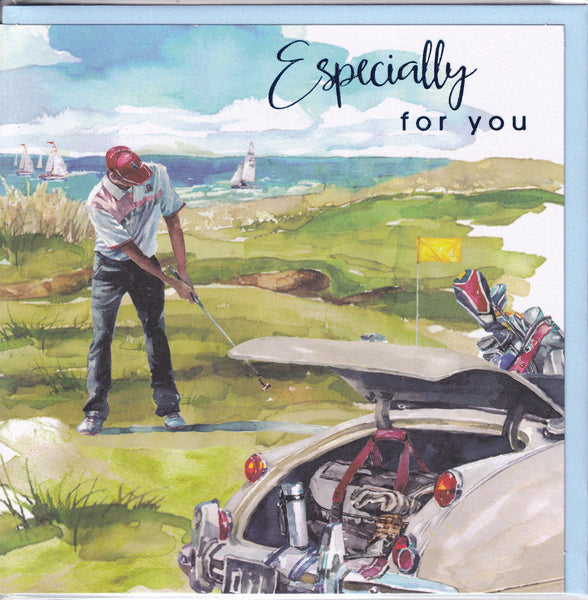 Golf Especially For You Birthday Card - Nigel Quiney