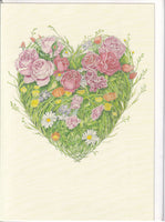 Grass Heart Greetings Card - Daniel Mackie