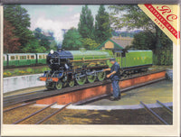 Green Goddess Steam Engine Train Greetings Card - Malcolm Root