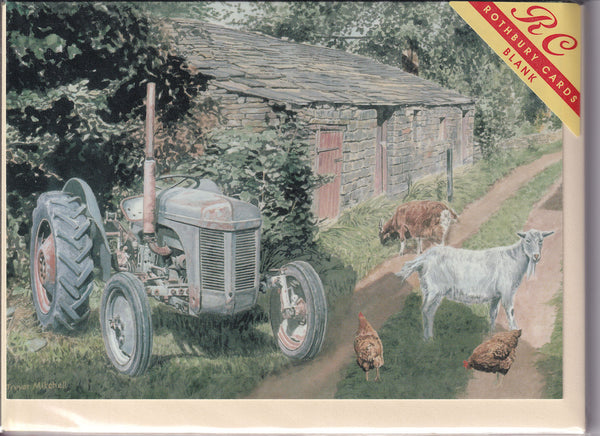 Grey Massey Ferguson 135 Tractor Greetings Card - Trevor Mitchell