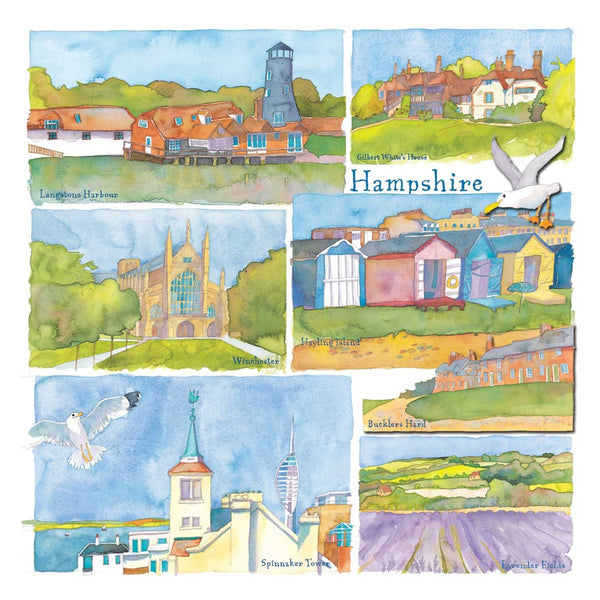 Hampshire Watercolour Greetings Card - Emma Ball