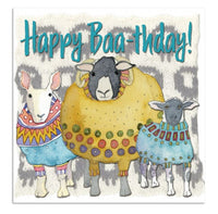 Happy Baa-thday! Sheep Birthday Card - Emma Ball