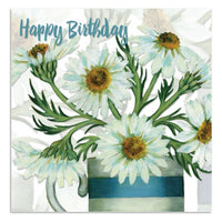 Happy Birthday Daisy Flowers Greetings Card - Caroline Cleave