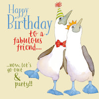 Happy Birthday To A Fabulous Friend Birthday Card - Emma Ball