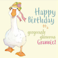Happy Birthday To A Gorgeously Glamorous Grannie! Greetings Card - Emma Ball