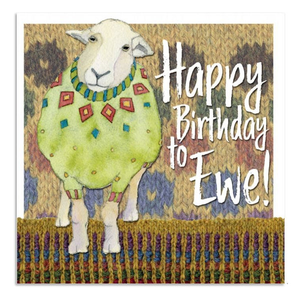 Happy Birthday To Ewe! Sheep Card - Emma Ball