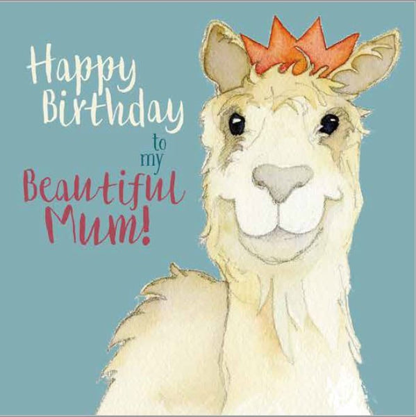 Happy Birthday To My Beautiful Mum! Greetings Card - Emma Ball