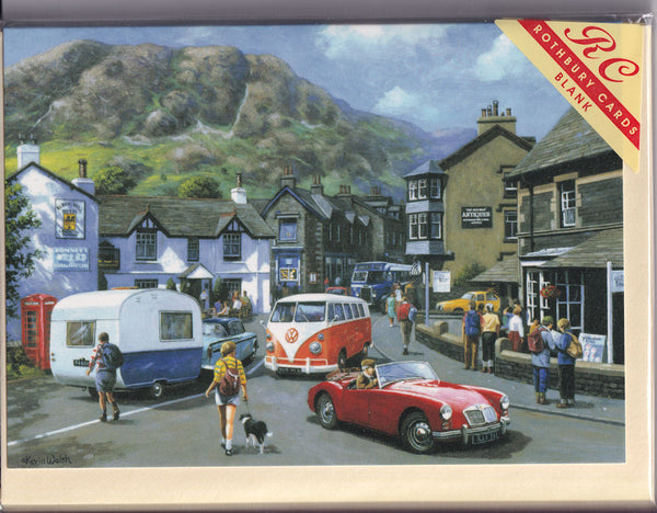 Happy Days At Coniston Lake District Greetings Card - Kevin Walsh