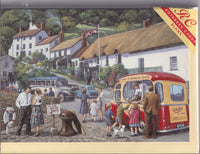 Happy Days At Lynmouth Devon Greetings Card - Kevin Walsh