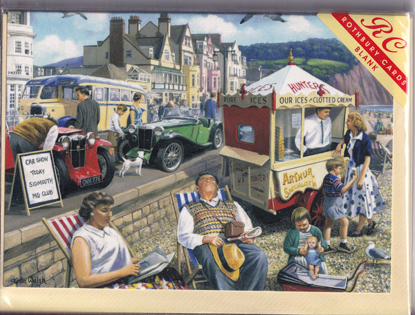 Happy Days At Sidmouth Devon Greetings Card - Kevin Walsh