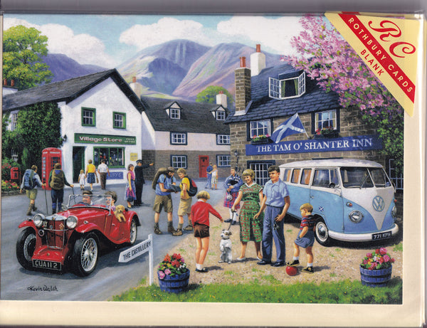 Happy Days In The Scottish Highlands Greetings Card - Kevin Walsh