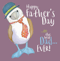 Happy Father's Day To The Best Dad Ever! Fathers Day Card - Emma Ball