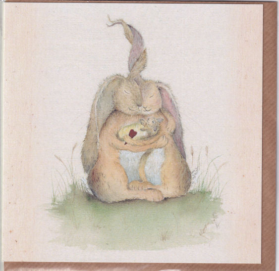 Hares My Family Watercolour Greetings Card - Sarah Reilly