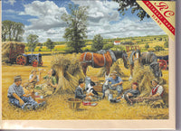 Harvest Lunch Greetings Card - Trevor Mitchell