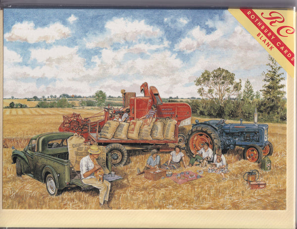 Harvest Time For Lunch Greetings Card - Steven Binks