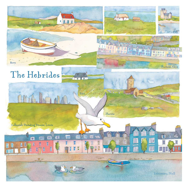 The Hebrides Scotland Watercolour Greetings Card - Emma Ball
