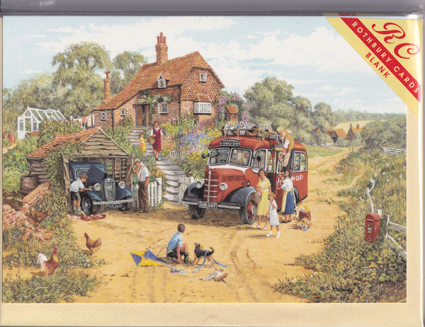 Henshaws Mobile Shop Greetings Card - Michael Herring
