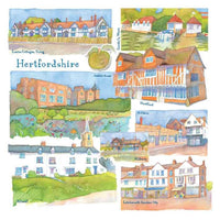Hertfordshire Watercolour Greetings Card - Emma Ball