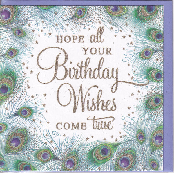 Hope All Your Birthday Wishes Come True Glitter Greetings Card - Nigel Quiney