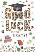 Wishing You Good Luck In Your Exams! Greetings Card - Nigel Quiney
