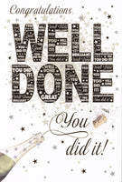 Congratulations Well Done You Did It! Greetings Card - Nigel Quiney