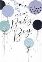 New Baby Boy Greetings Card - Nigel Quiney