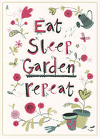 Eat Sleep Garden Repeat Happy Birthday Card