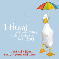 I Heard You're Under The Weather Greetings Card - Emma Ball