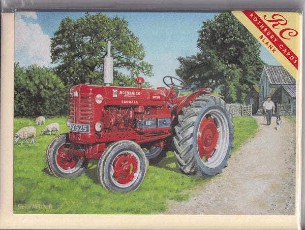 International Harvester Farmall Tractor Greetings Card - Trevor Mitchell