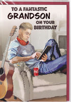 To A Fantastic Grandson On Your Birthday Card