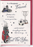 Sports To A Wonderful Friend Just For You Birthday Card