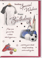 Sports Sending Special Wishes Happy Birthday Card