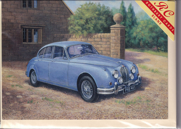 Jaguar Jem Vintage Car Greetings Card - Kevin Walsh